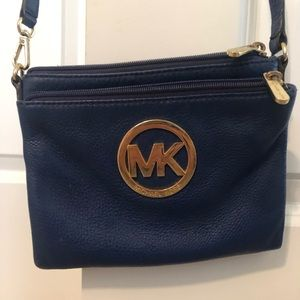 Michael Kors Crossbody Blue Purse